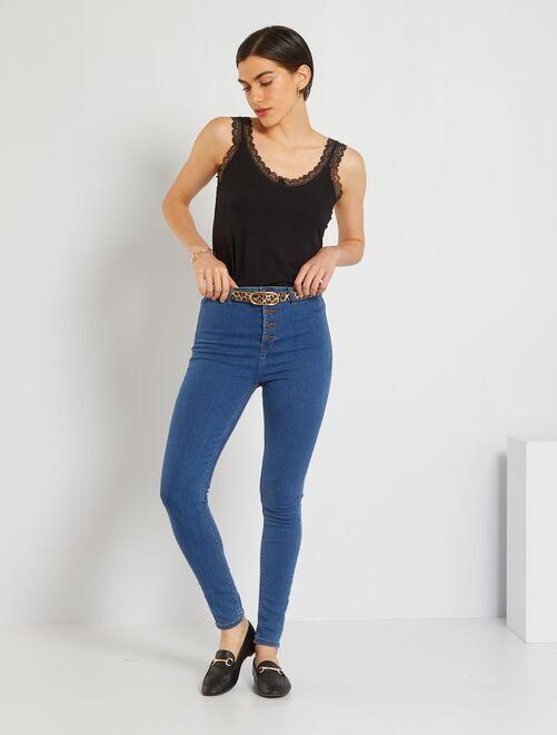 Jeans skinny brachetta abbottonata                                                                 BLU Donna