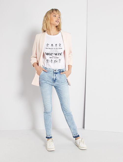 Jeans skinny con orlo dégradé                             BLU