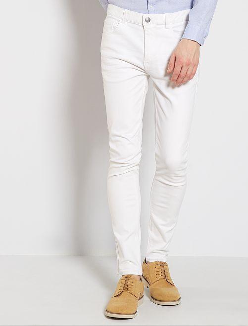 Jeans skinny cotone stretch                                         bianco