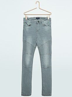 Jeans - Jeans skinny cuciture motociclista