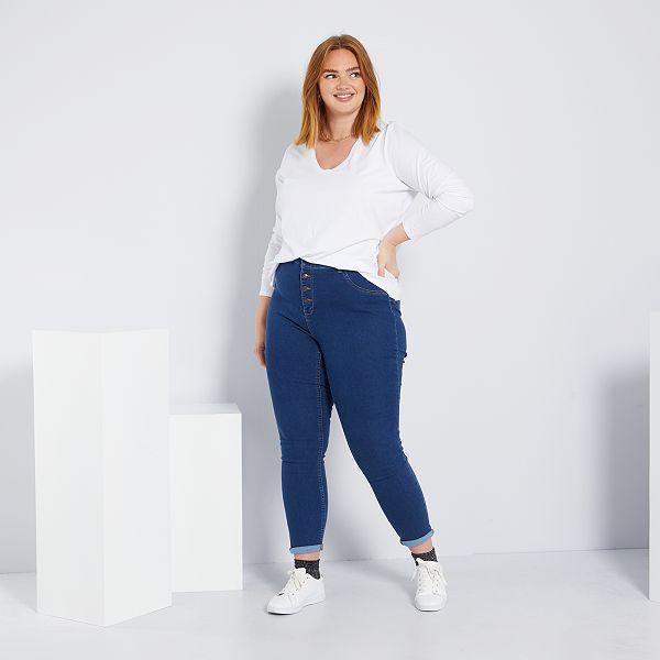 scarpe da corsa morbido e leggero elegante Jeans skinny denim stretch vita alta