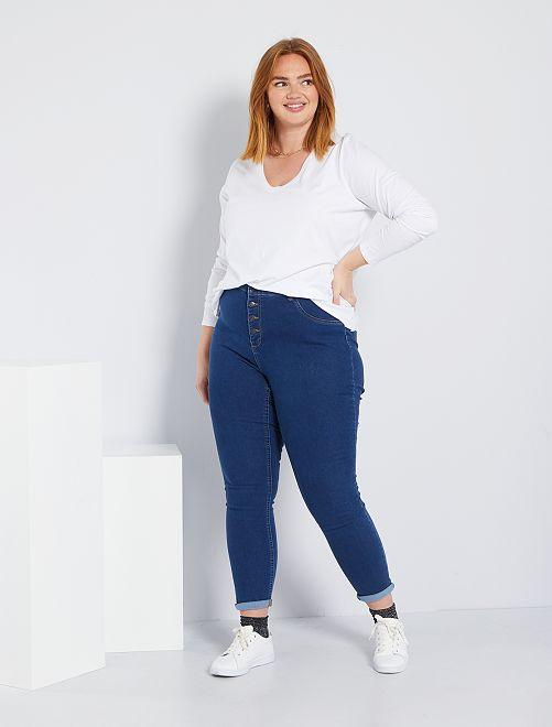 Jeans skinny denim stretch vita alta                                                                 BLU