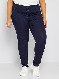 Jeans - Jeans skinny denim stretch vita alta