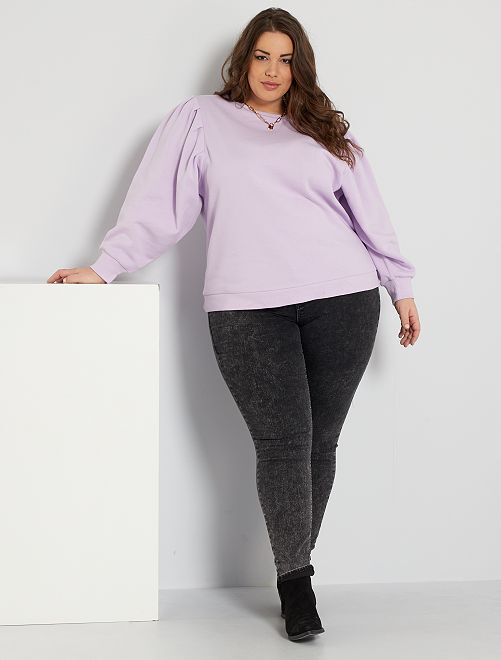 Jeans skinny denim stretch vita alta                                                                 NERO