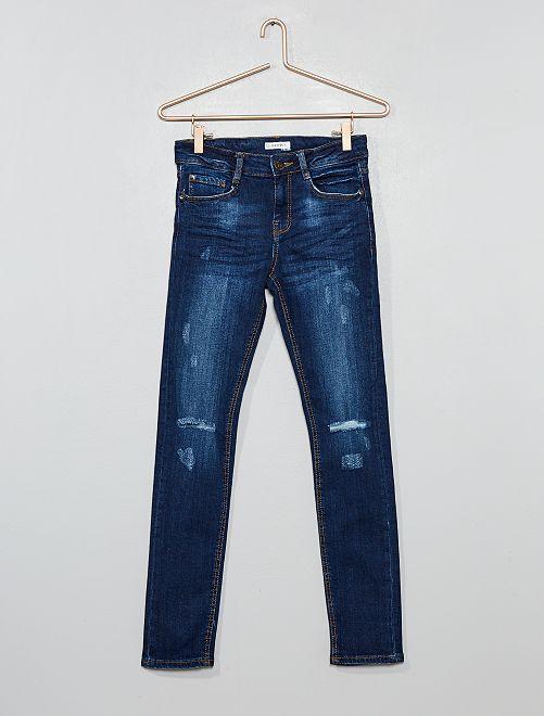 Jeans skinny destroy                             BLU Ragazzo