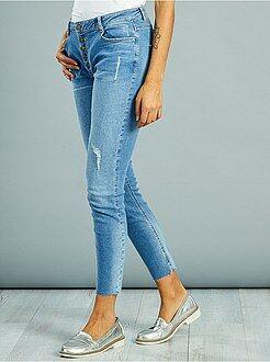 Donna dalla 38 alla 52 Jeans skinny destroy brachetta abbottonata
