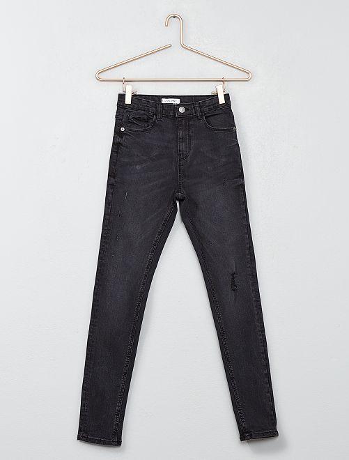 Jeans skinny destroy                             NERO Ragazza