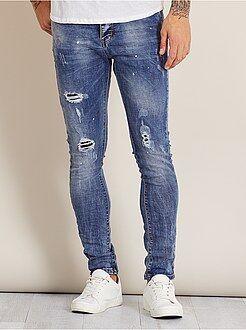 Jeans - Jeans skinny destroy - Kiabi