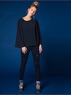 Jeans skinny - Jeans skinny destroy vita alta