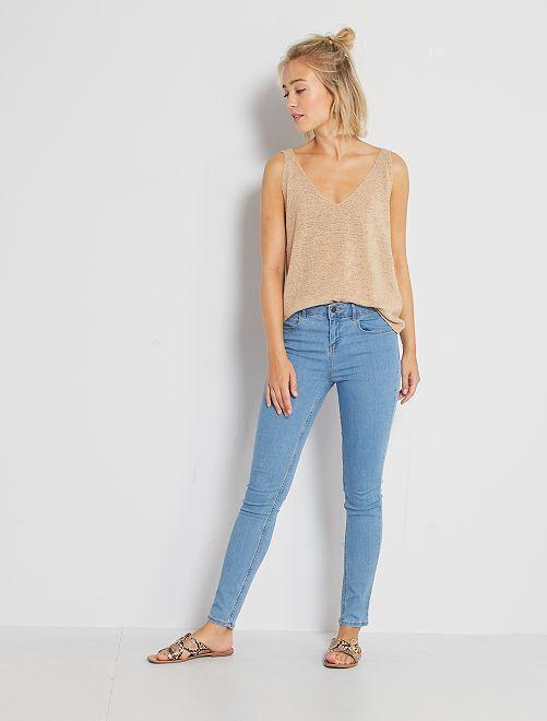 Jeans skinny                                                                                         doble stone