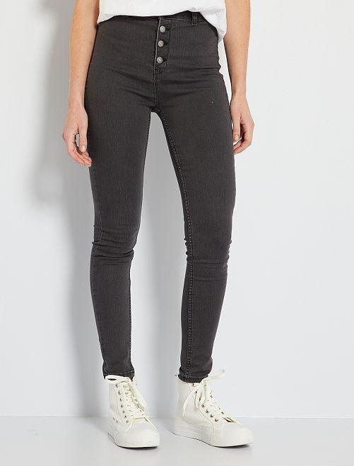Jeans skinny eco-sostenibile                                                                             GRIGIO