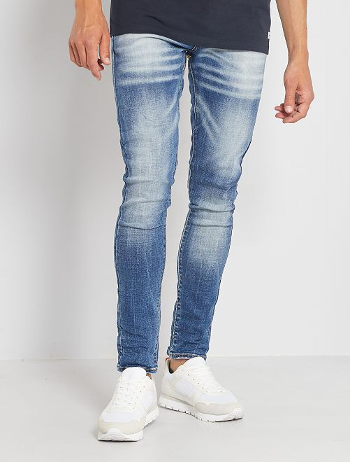 Jeans skinny effetto delavé                             brut