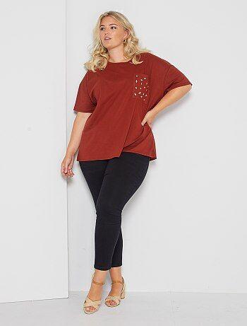 Taglie forti donna - Jeans skinny effetto push up - Kiabi