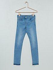 Jeans skinny effetto usura