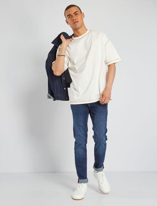 Jeans skinny effetto usura                                                     brut