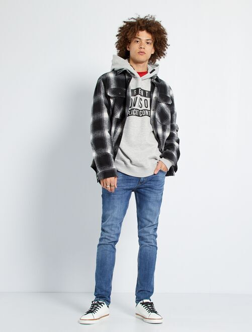 Jeans skinny effetto usura                                                     stone