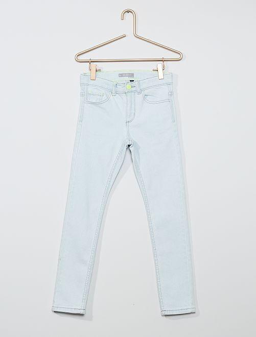 Jeans skinny in cotone stretch                                         BLU