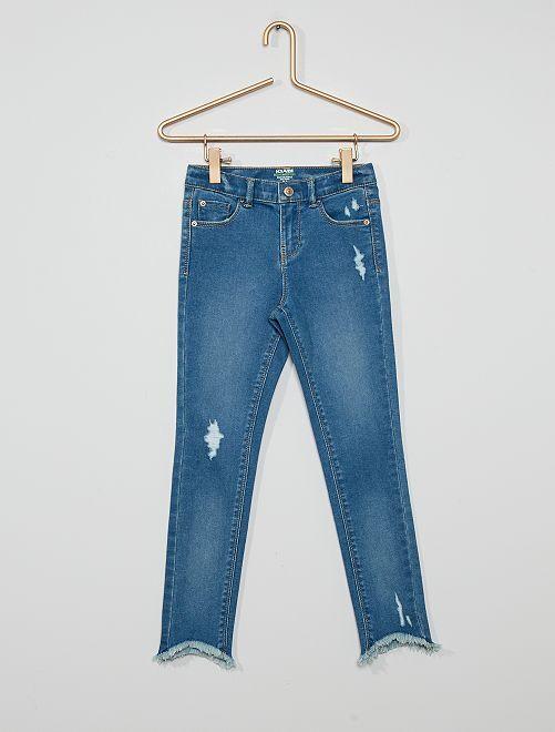 Jeans skinny in cotone stretch ecosostenibile                                                                 BLU