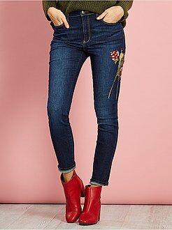 Donna dalla 38 alla 52 - Jeans skinny ricamati - Kiabi