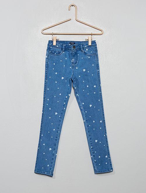 Jeans skinny stampati                                         BLU