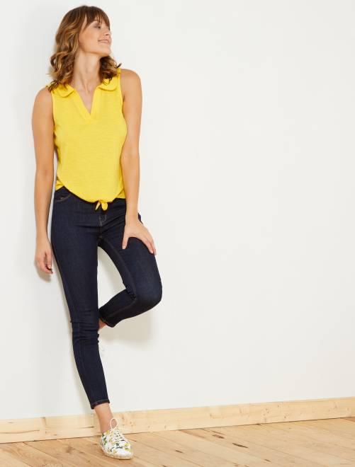 Jeans skinny vita alta                                                                             BLU Donna