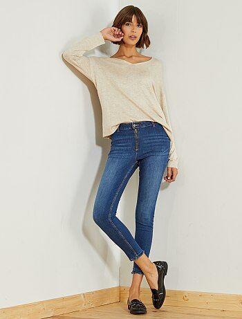 Donna dalla 38 alla 52 - Jeans skinny vita alta - Kiabi
