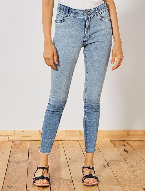 Jeans skinny vita alta                             BLU