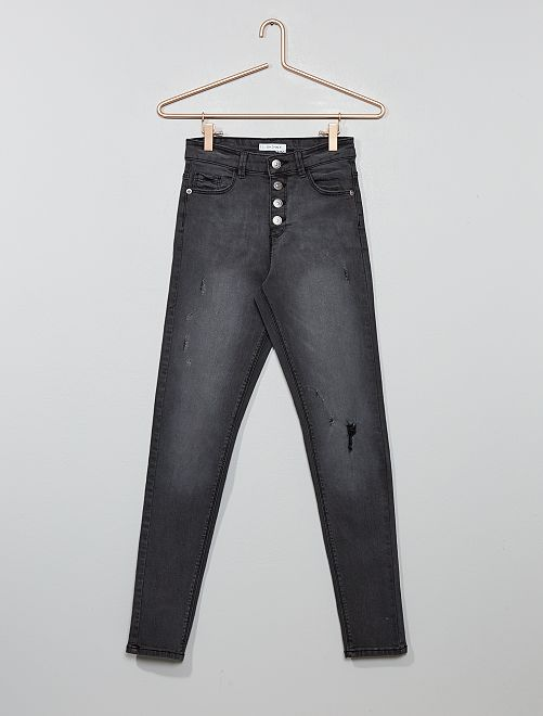 Jeans skinny vita alta                                 GRIGIO