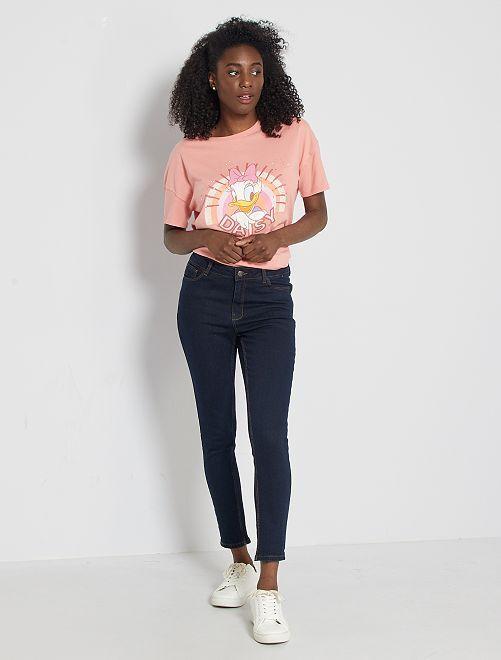Jeans skinny vita alta lunghezza 28                                                                 BLU