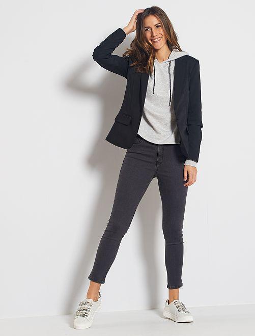 Jeans skinny vita alta lunghezza 28                                                                 GRIGIO