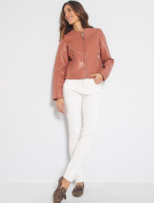 Jeans skinny vita alta lunghezza US 32                                                                 bianco neve