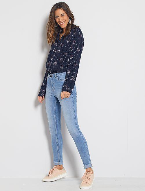 Jeans skinny vita alta lunghezza US 32                                                                 BLU