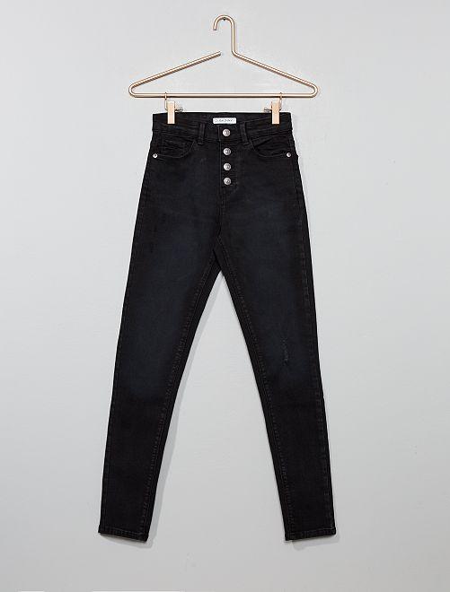 Jeans skinny vita alta                                         NERO