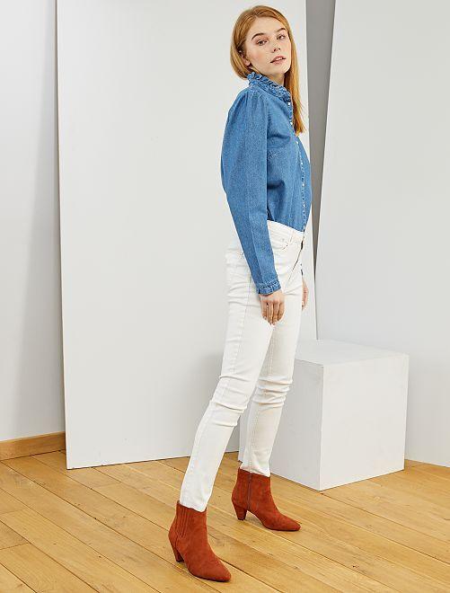 Jeans skinny vita molto alta - Lunghezza US30                                                                                         bianco neve