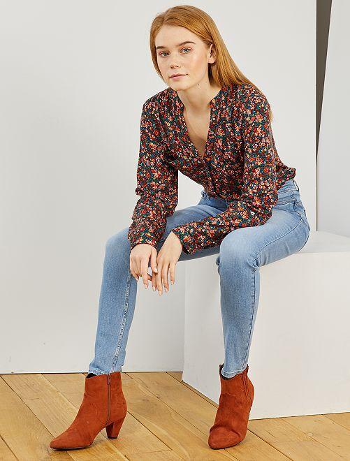 Jeans skinny vita molto alta - Lunghezza US30                                                                             BLU