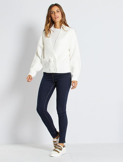 Jeans skinny vita molto alta - Lunghezza US30                                             blu Donna