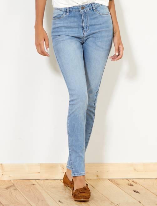 Jeans skinny vita molto alta - Lunghezza US30 doble stone Donna