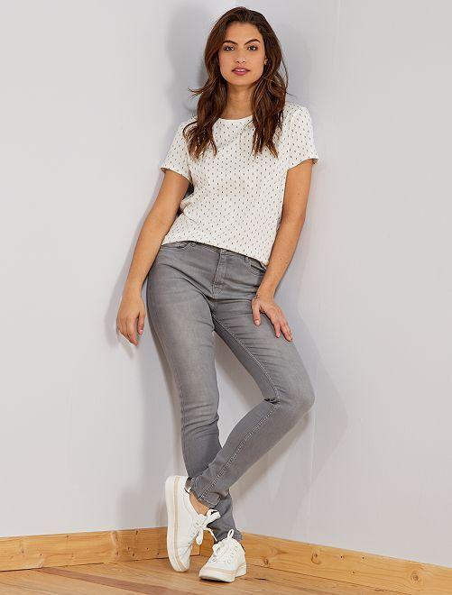 Jeans skinny vita molto alta - Lunghezza US30                                                                                         GRIGIO