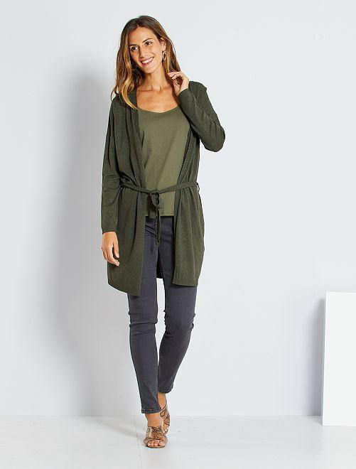 Jeans skinny vita molto alta - Lunghezza US30                                                         grigio scuro Donna
