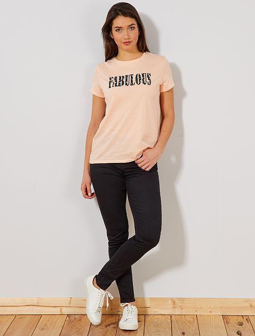 Jeans skinny vita molto alta - Lunghezza US30                                                                 NERO Donna