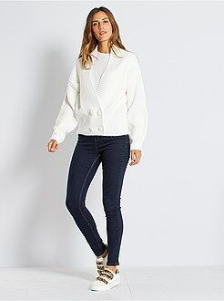 Donna dalla 38 alla 52 Jeans skinny vita molto alta - Lunghezza US30