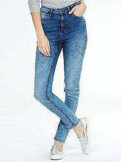 Jeans skinny vita molto alta - Lunghezza US32