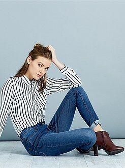 Jeans skinny - Jeans skinny vita molto alta - Lunghezza US32