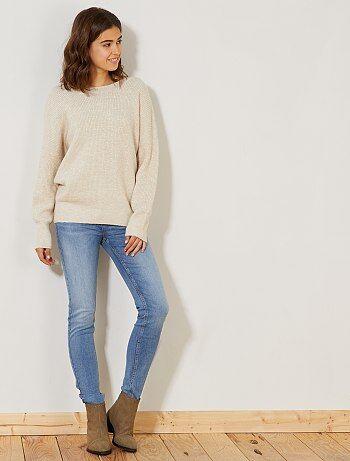 Donna dalla 38 alla 52 - Jeans skinny vita molto alta - Lunghezza US32 - Kiabi