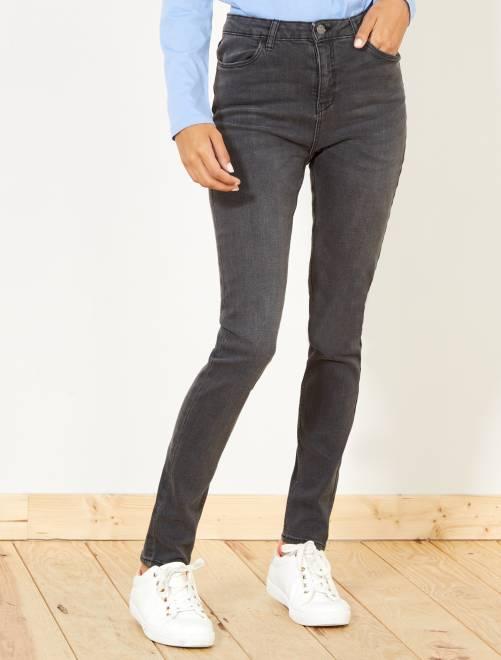 Jeans skinny vita molto alta - Lunghezza US32                     grigio scuro