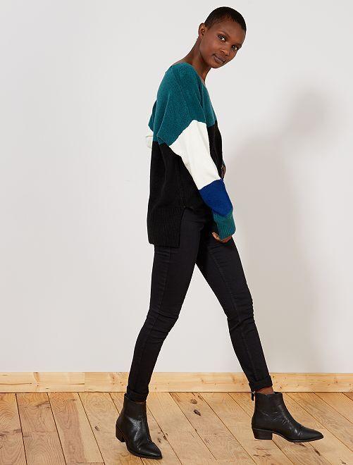 Jeans skinny vita molto alta - Lunghezza US32                                                                             NERO Donna