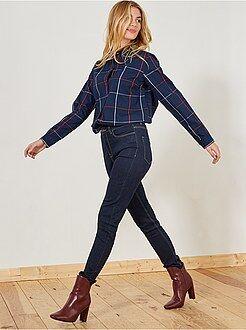 Donna dalla 38 alla 52 Jeans skinny vita molto alta - Lunghezza US32