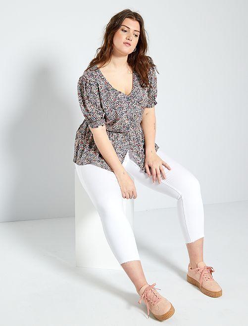 Jeans slim a vita alta                                                         bianco