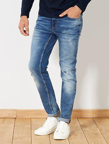 Jeans slim abrasioni - Kiabi
