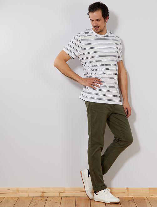 Jeans slim colorati L36 + 1 m 90                             verde scuro Uomini alti più di 190cm
